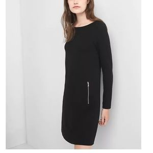Gap Boatneck Swing Dress Black XS v778